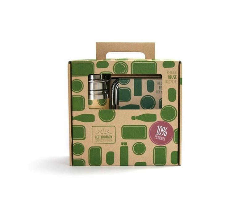 Cadeau set - Lunchbox en Drinkfles 500ml
