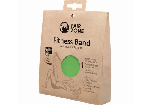 Fairzone Fitness band groen - medium