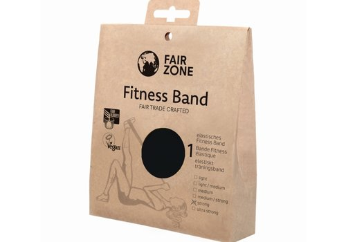 Fairzone Fitness band zwart - strong