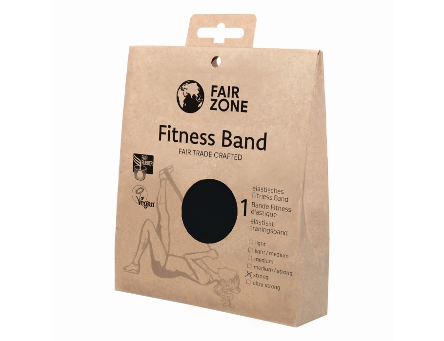 Fairzone Fitness band zwart - strong - 0,35 mm