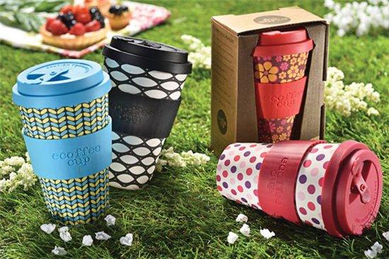 Ecoffee Koffiebeker To Go - Acanthus William Morris - van biologisch afbreekbaar bamboe - Copy