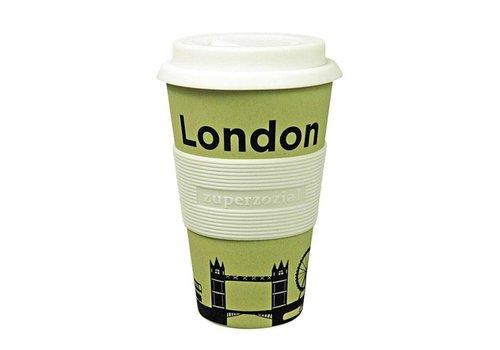 Zuperzozial Koffie beker To Go - London