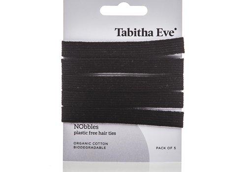 Tabitha Eve Plasticvrije haar elastiekjes 5 stuks - zwart