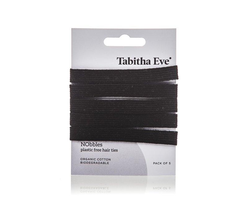 Plasticvrije haar elastiekjes 5 stuks - zwart