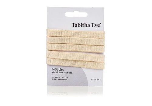 Tabitha Eve Plasticvrije haar elastiekjes 5 stuks - creme