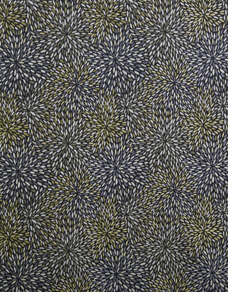Etincelle Noir Jaune gordijnstof
