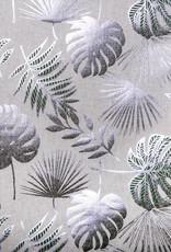 Feuilles Silver decoratiestof