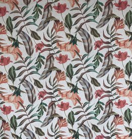 Boho Blume & Feder Dekorationsstoff