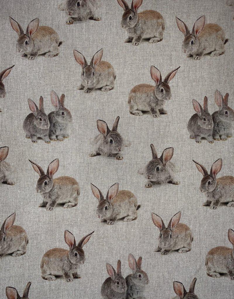Bunnies Decoratiestof Linnenlook