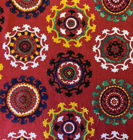 Oezbekistan Rood Decoratiestof