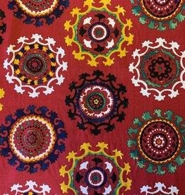 Oezbekistan Rot Dekorationsstoff