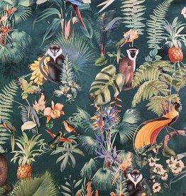 Exotique Groen  Decoratiestof Extra Breed