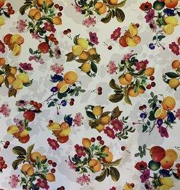Sommerfrucht & Sommer Blumen Dekoration Stoff