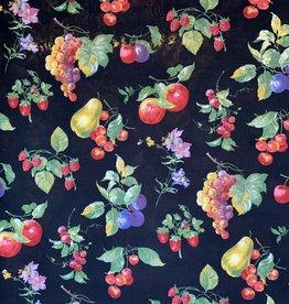 Appels & Peren Zwart Decoratiestof