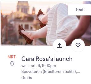Cara Rosa's launch