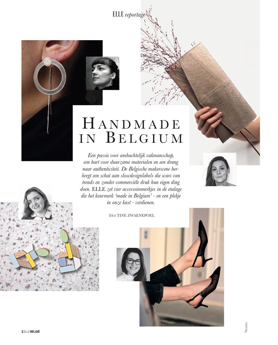 Handmade in Belgium ELLE magazine