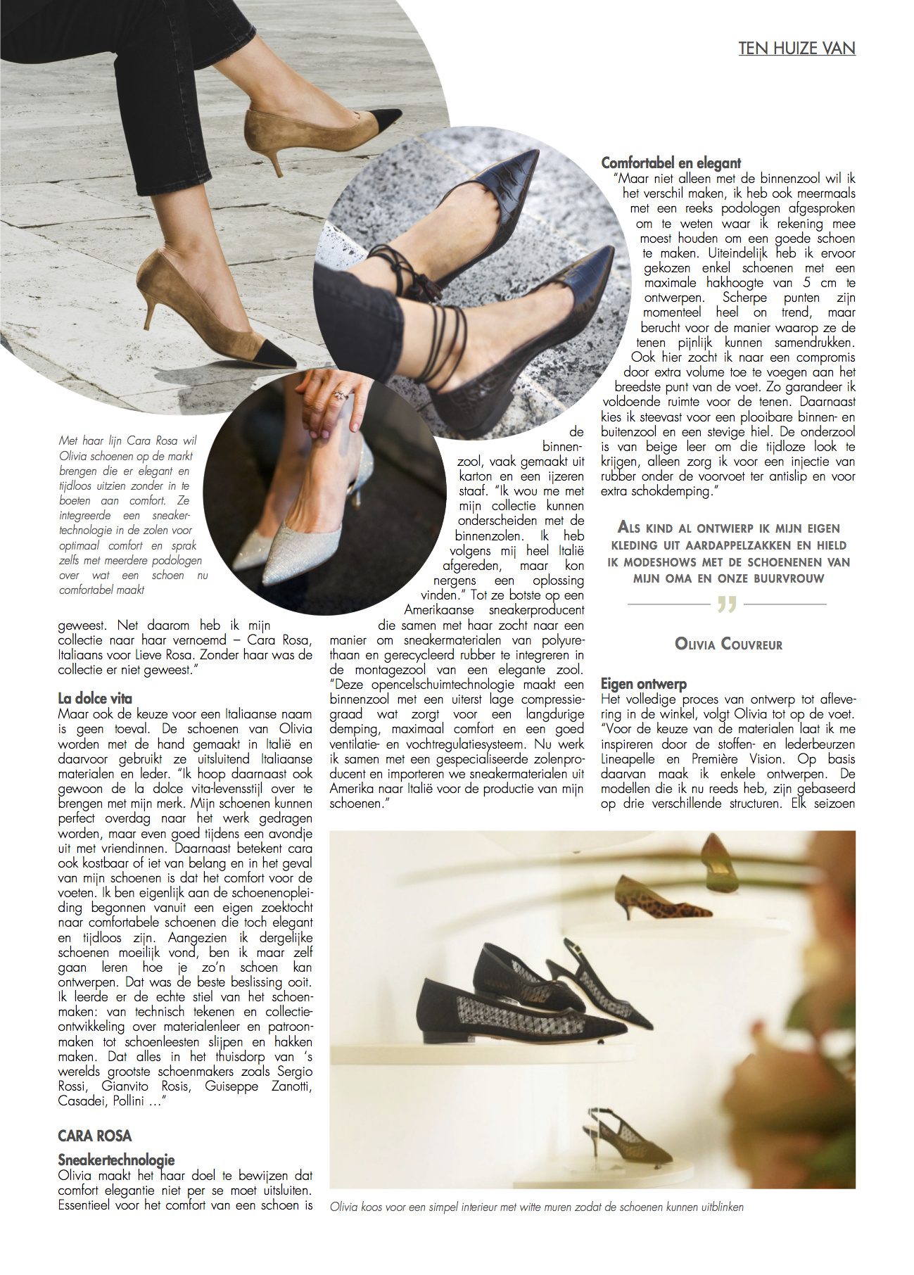 Cara Rosa in Shoes magazine - pmg