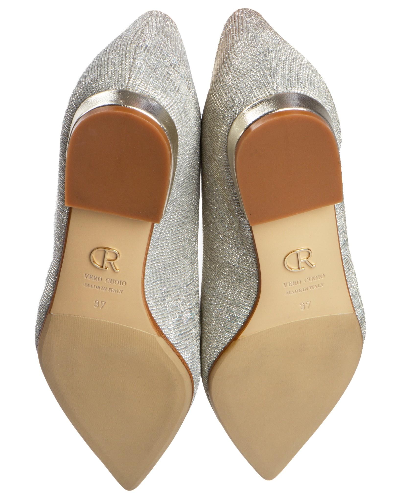 San Vito ballerina's in champagne glitter