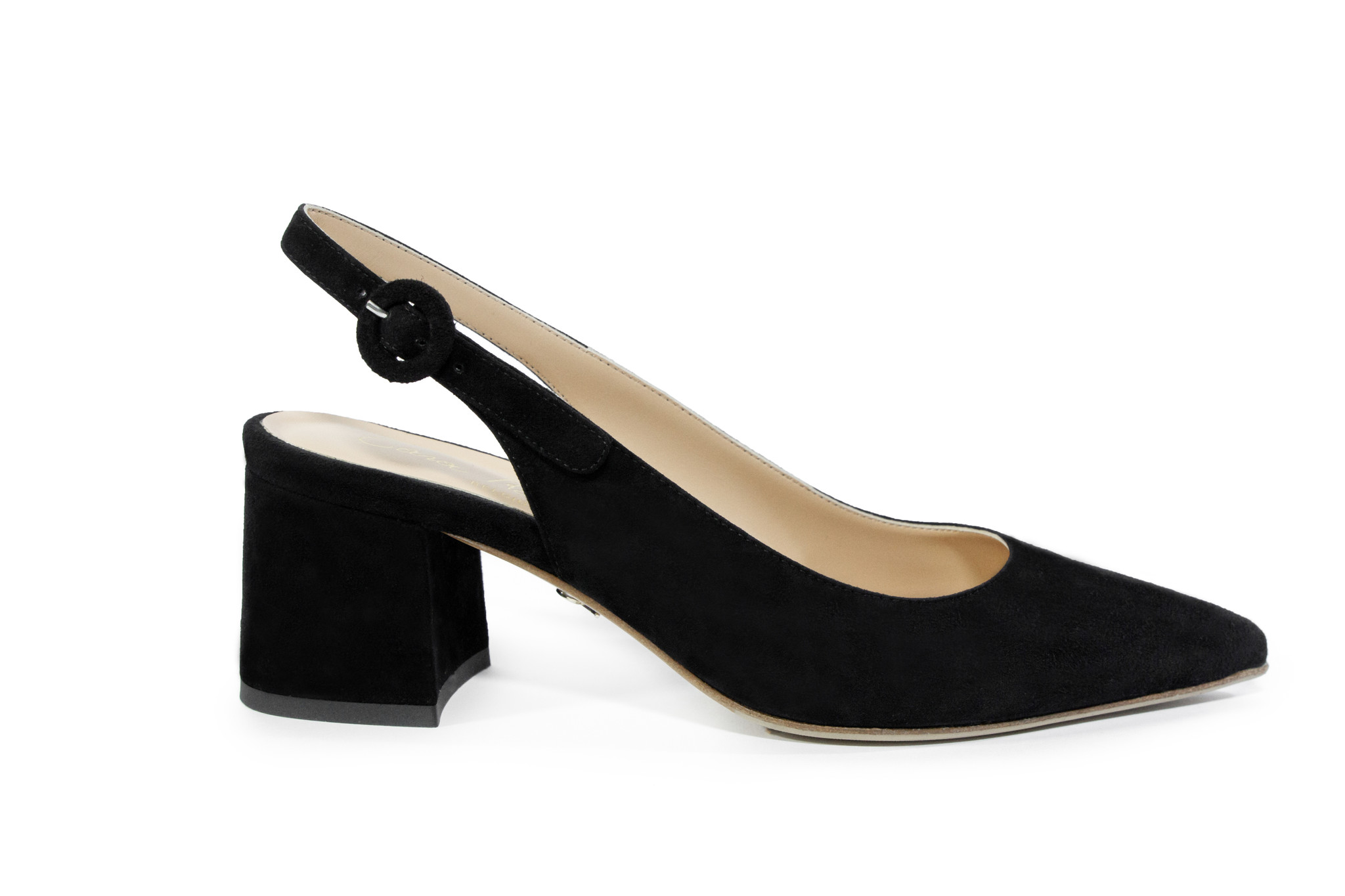 Zwarte sandalen met blokhak Cara Rosa