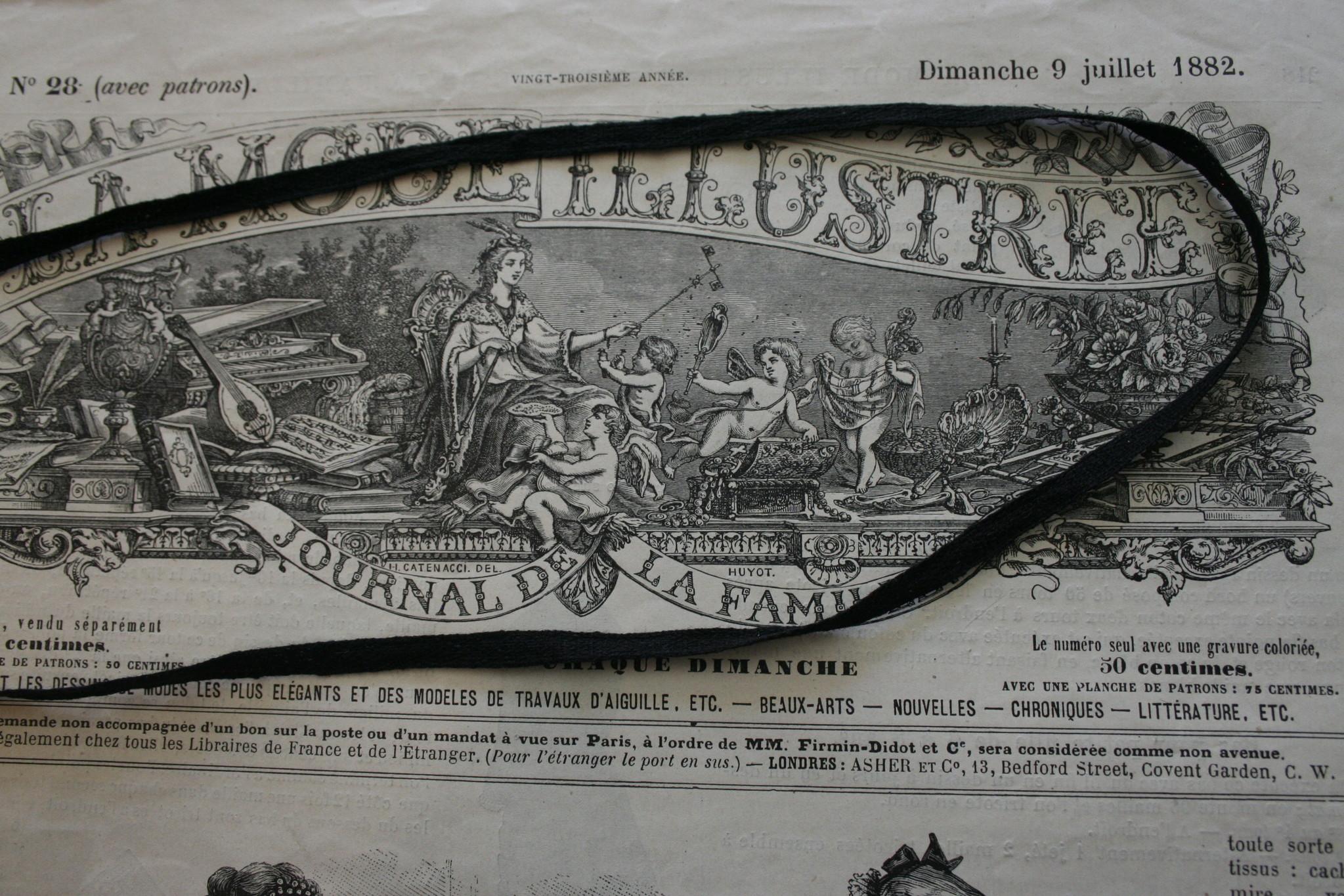 Cotton tape/ribbon.