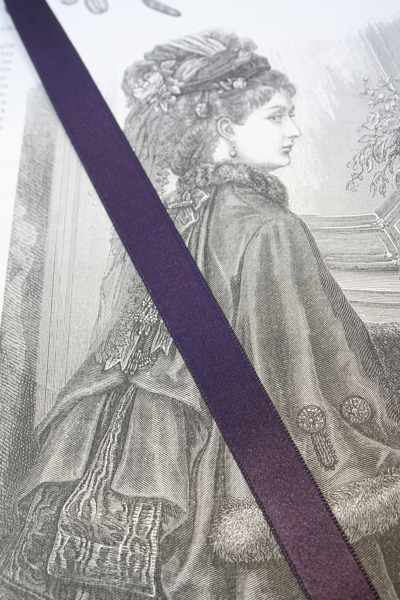 Eggplant Purple satin ribbon.