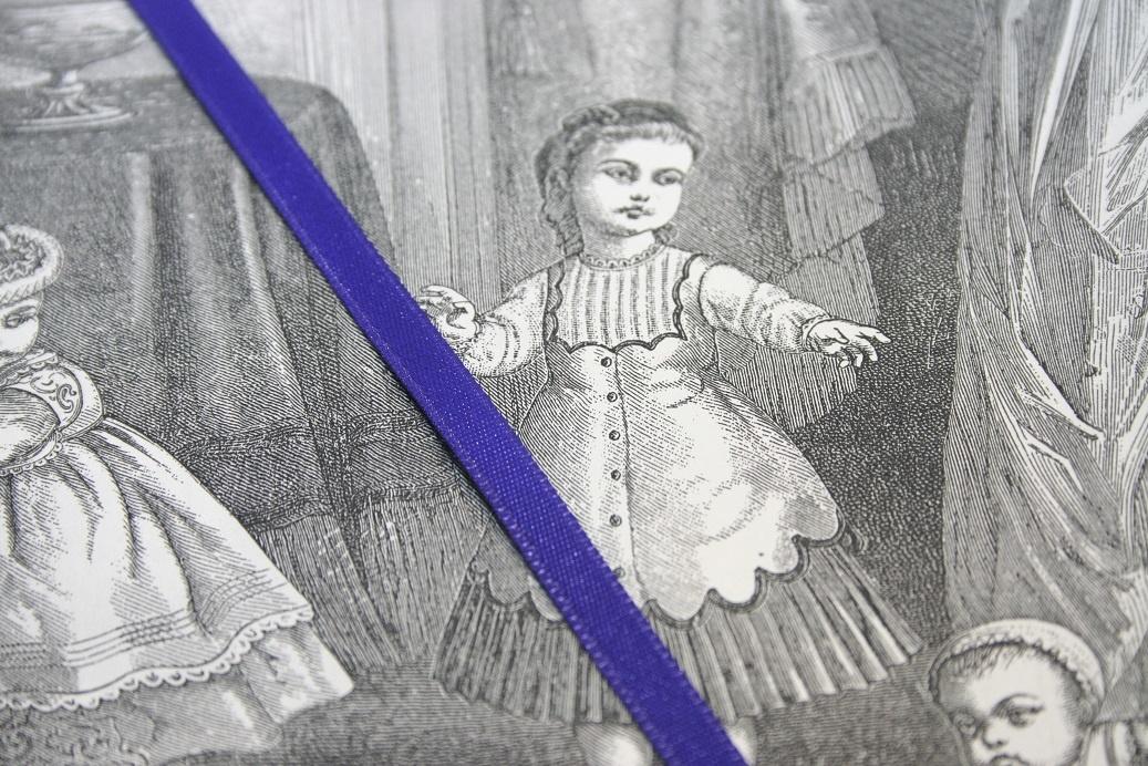 Royal purple satin ribbon diff. widths