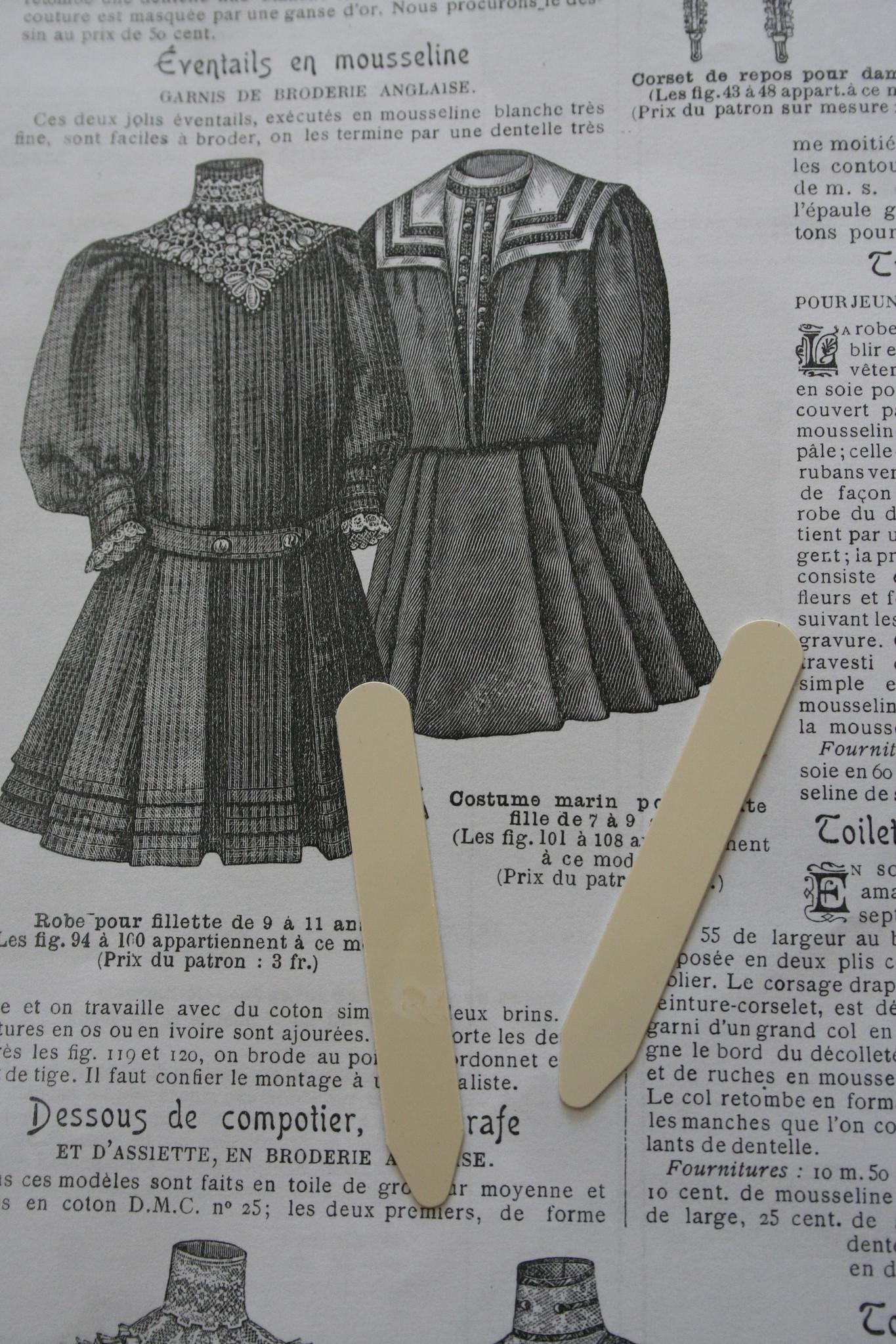 Vintage kragen staanders.