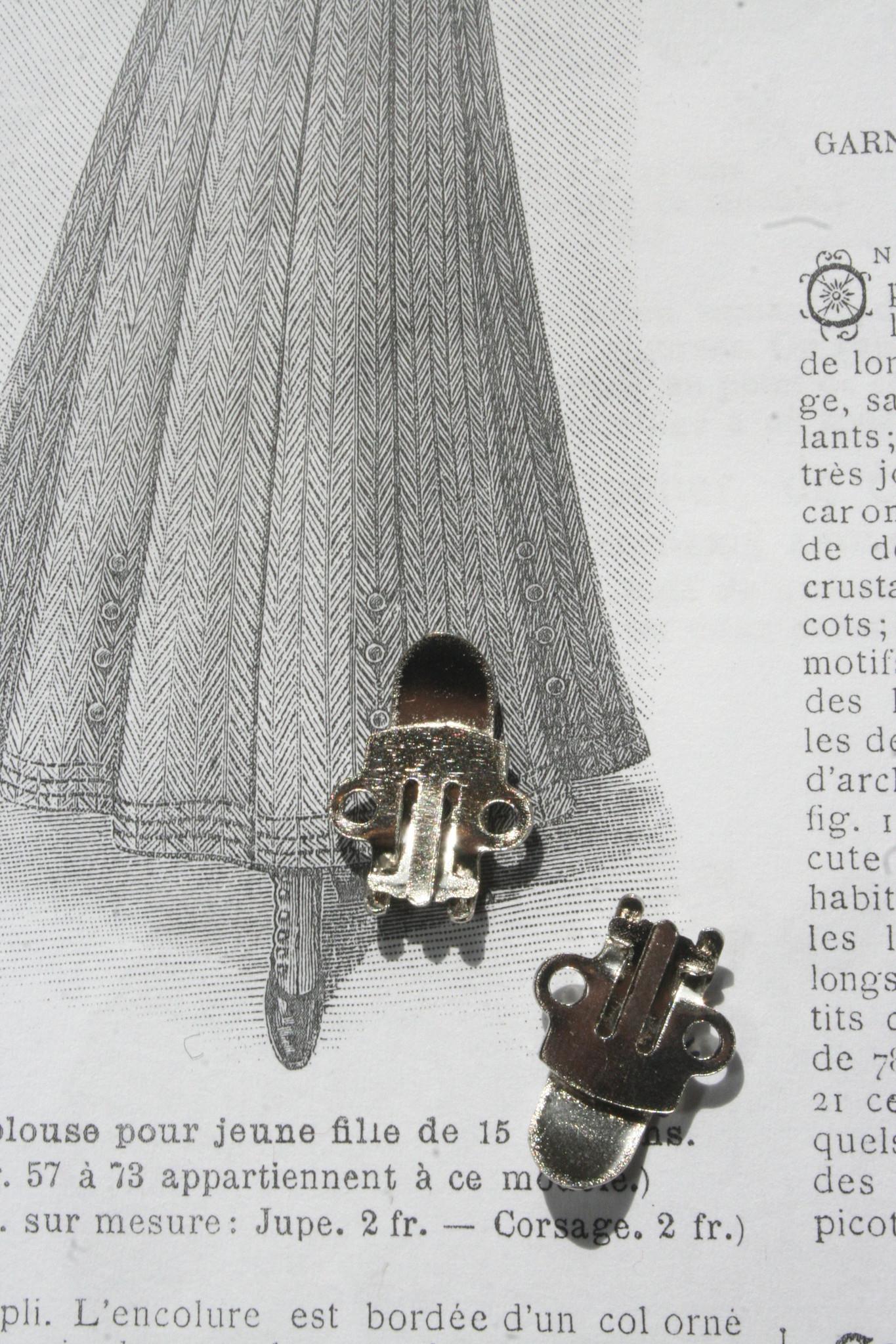 Blanco zilveren Schoenen Clips.