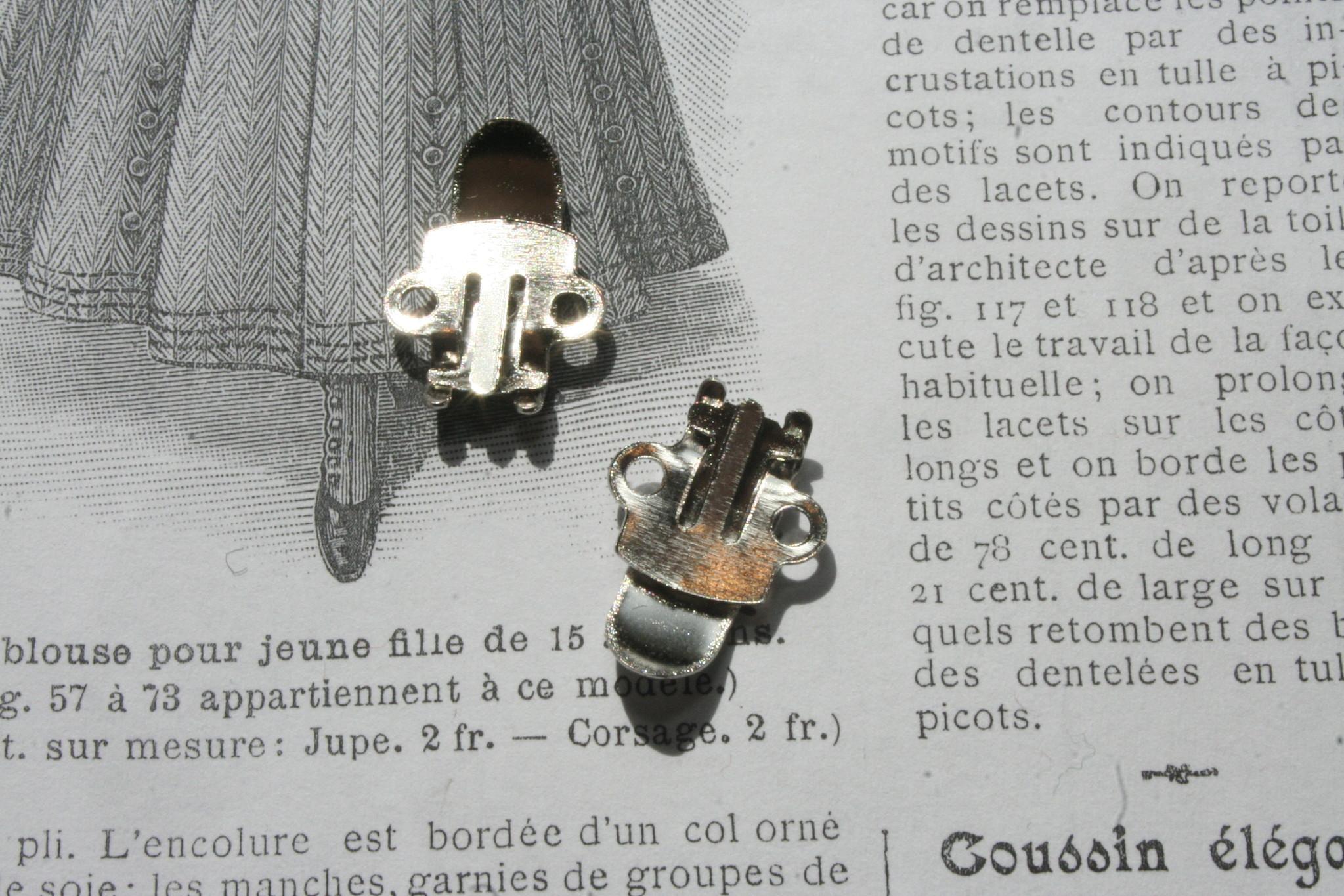 Blanc silver Shoe clips.