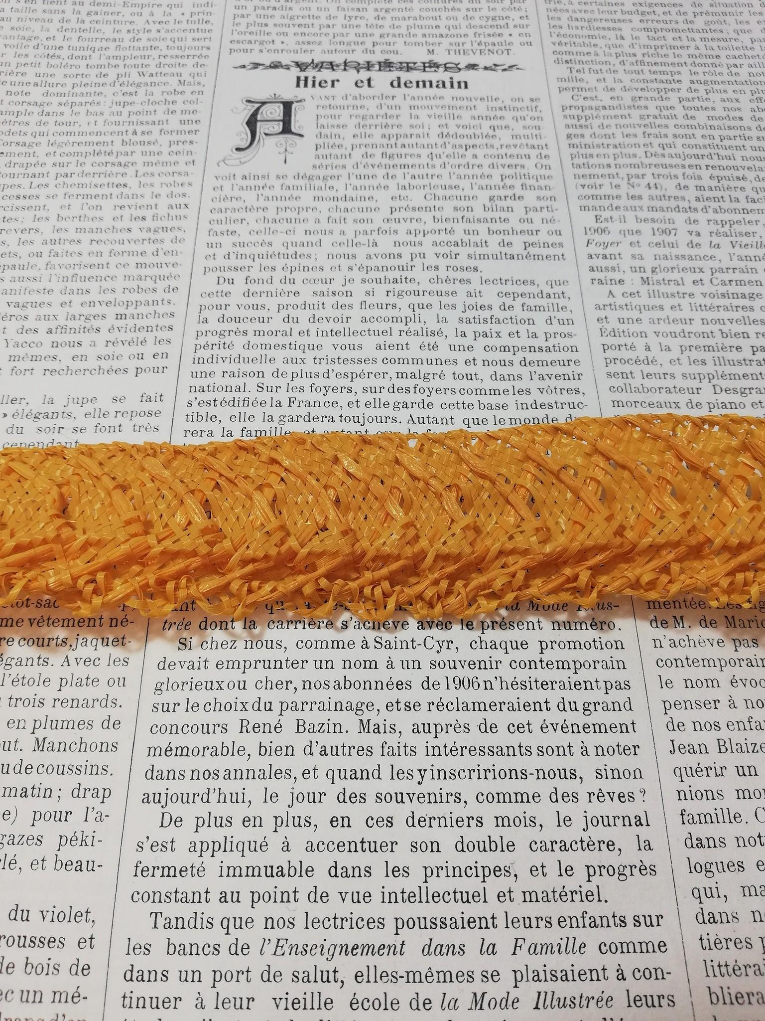 Vintage hat straw braid diff. colors