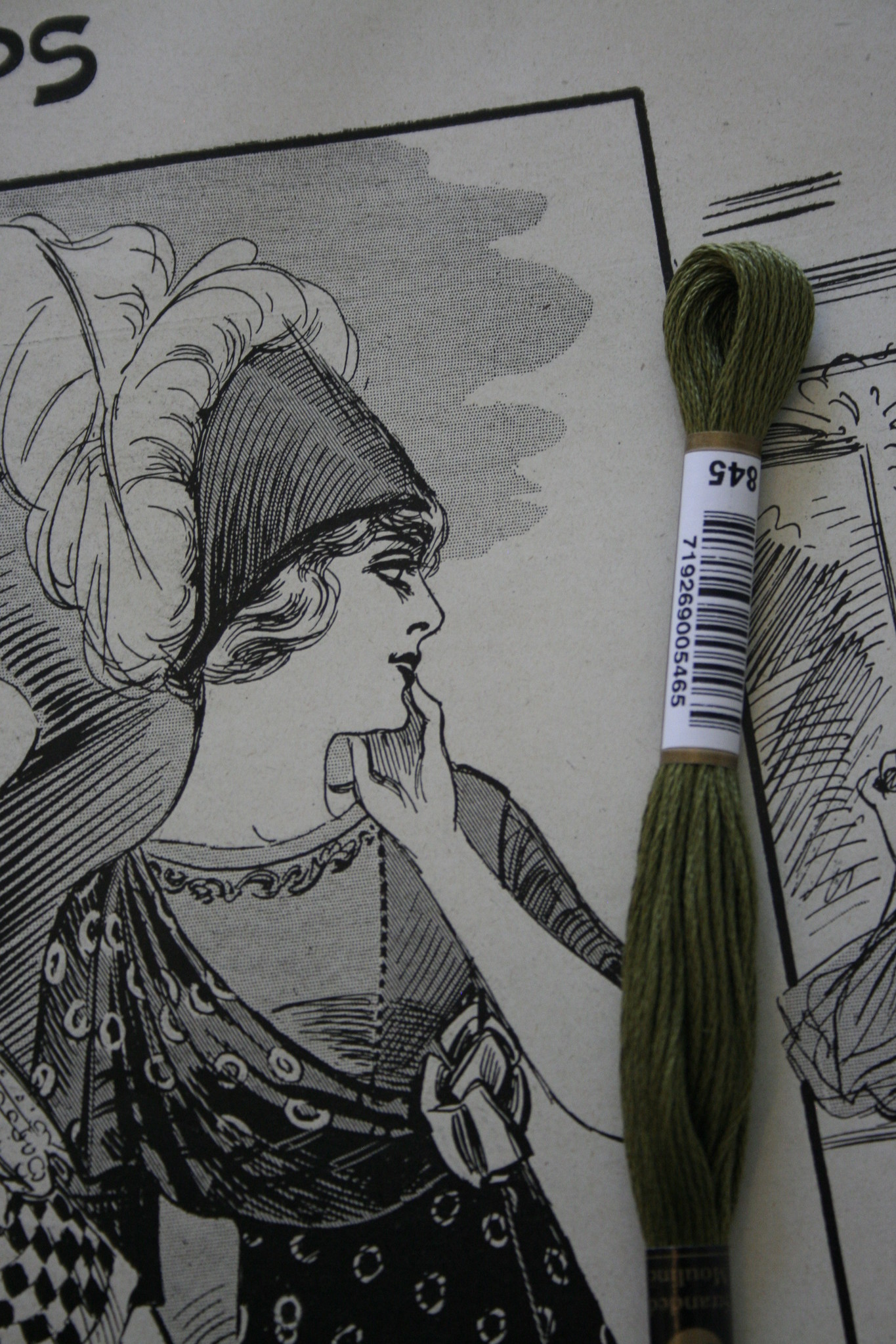 Embroidery thread cotton.