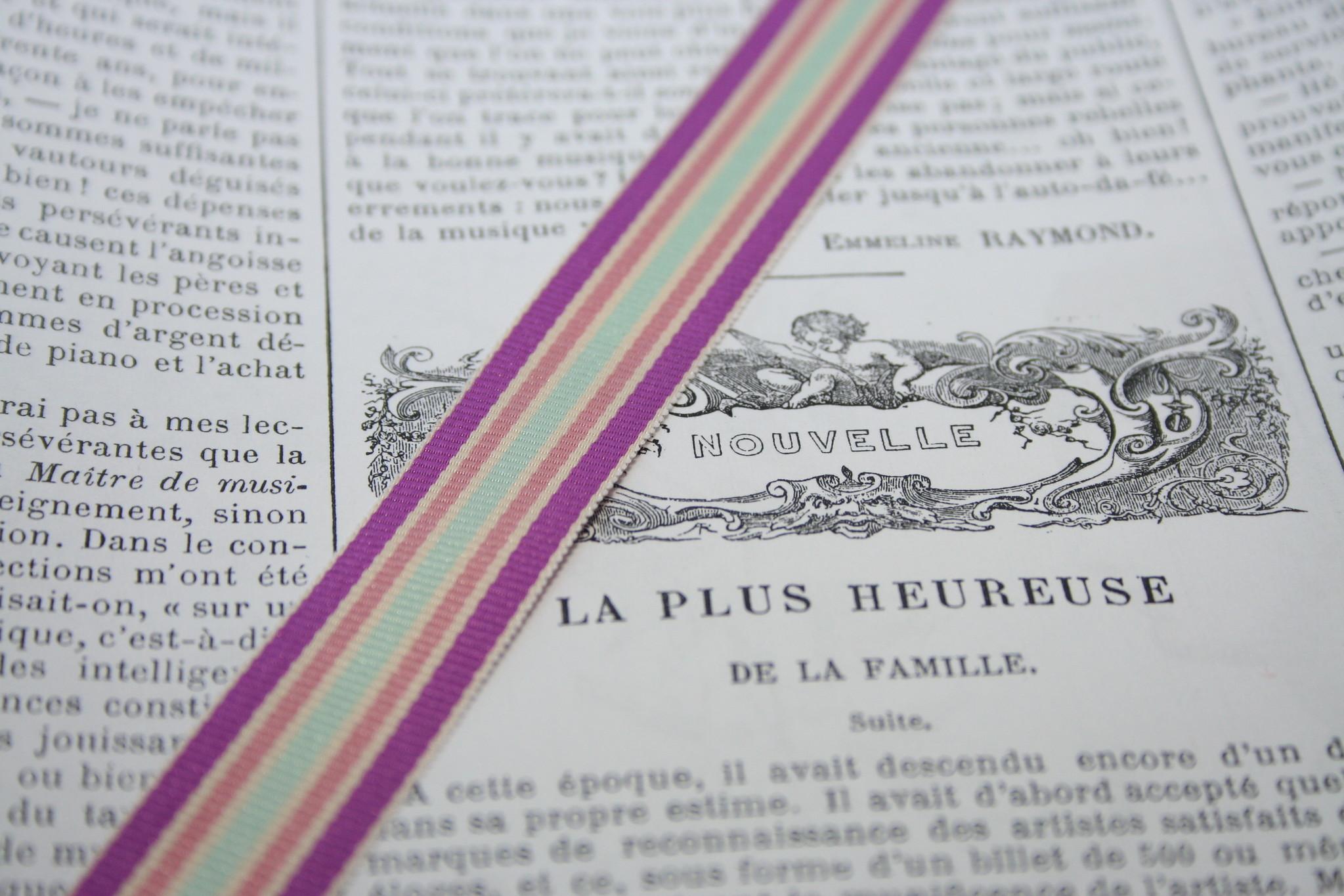 Striped ribbon, 3 colors diff. colors