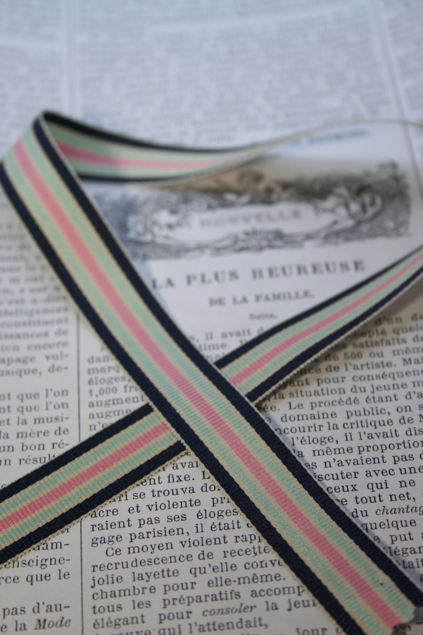 Striped ribbon, 3 colors.