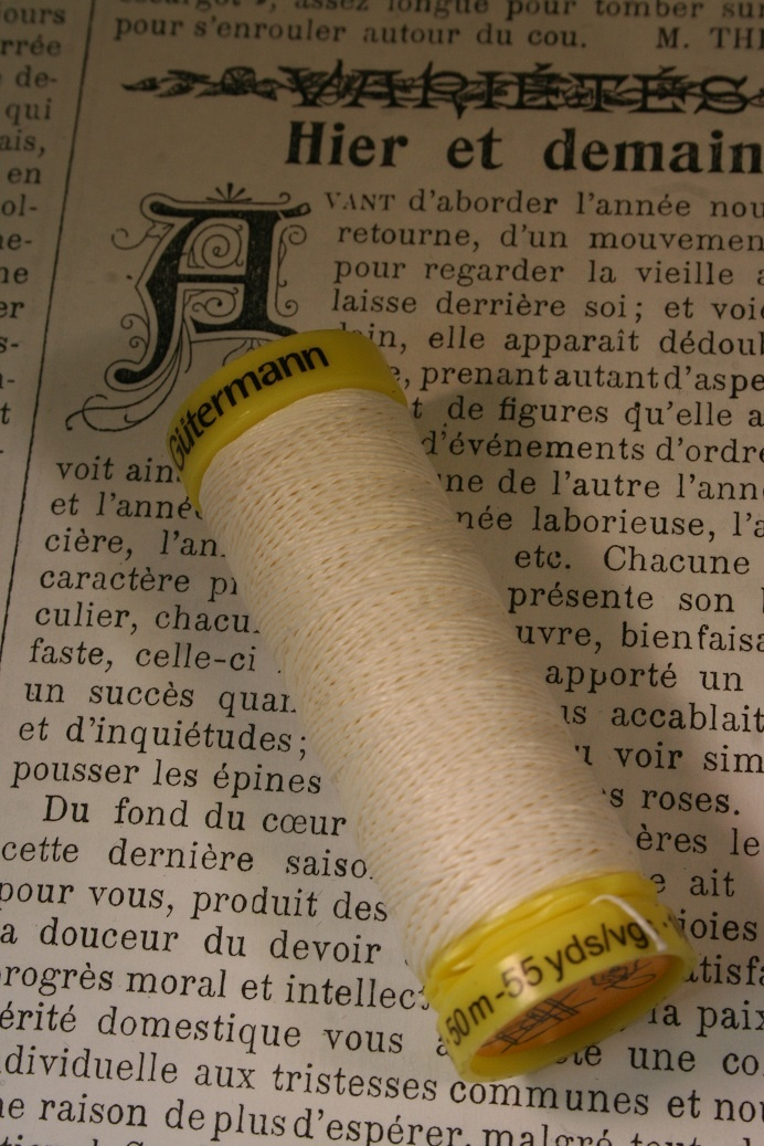 Gutermann linen thread white.