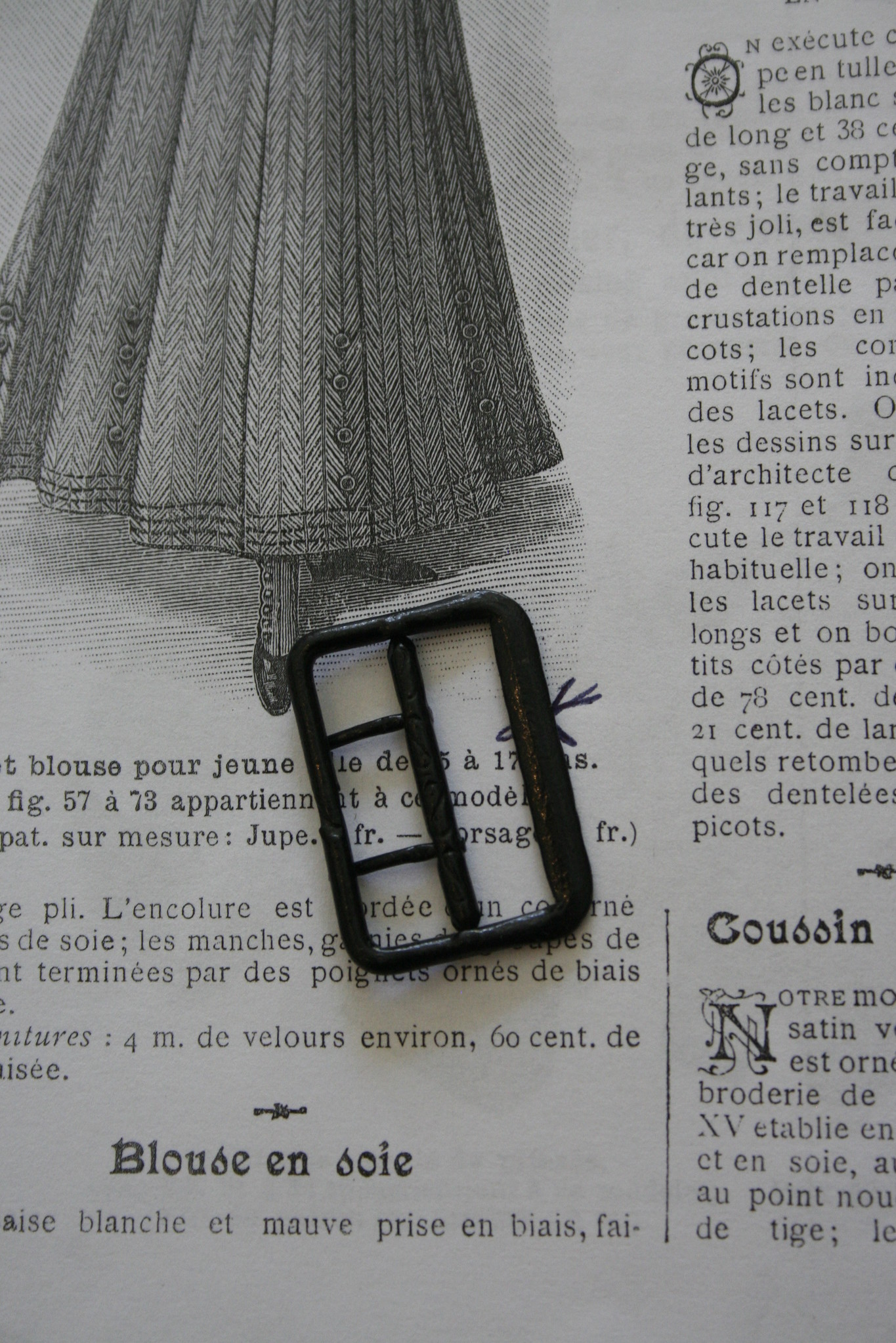 Vintage waistcoat buckle.
