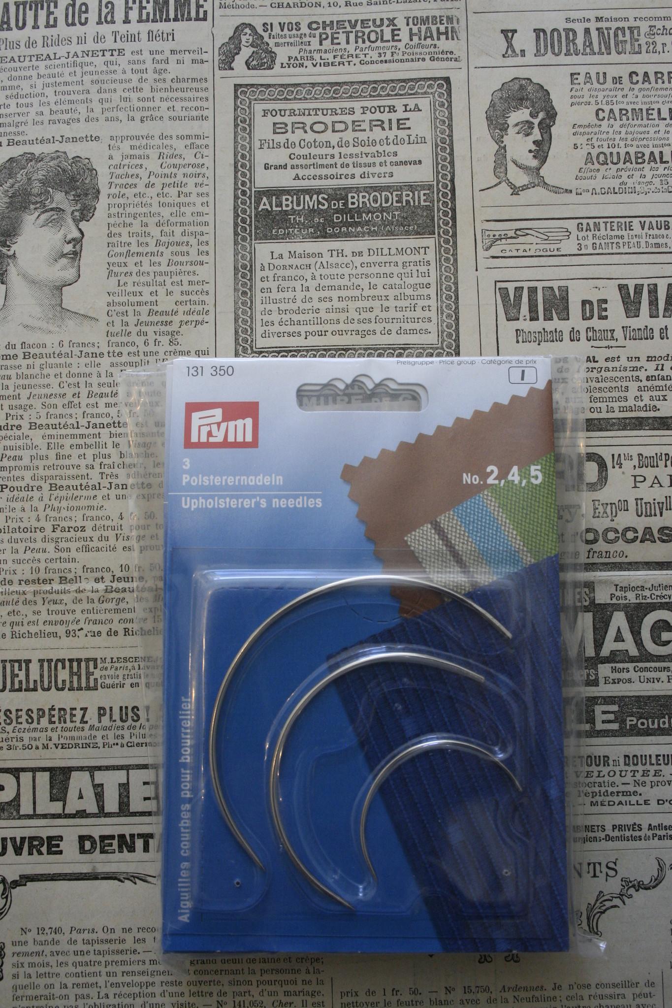 Prym Prym  curved needles/hatmaking needles.