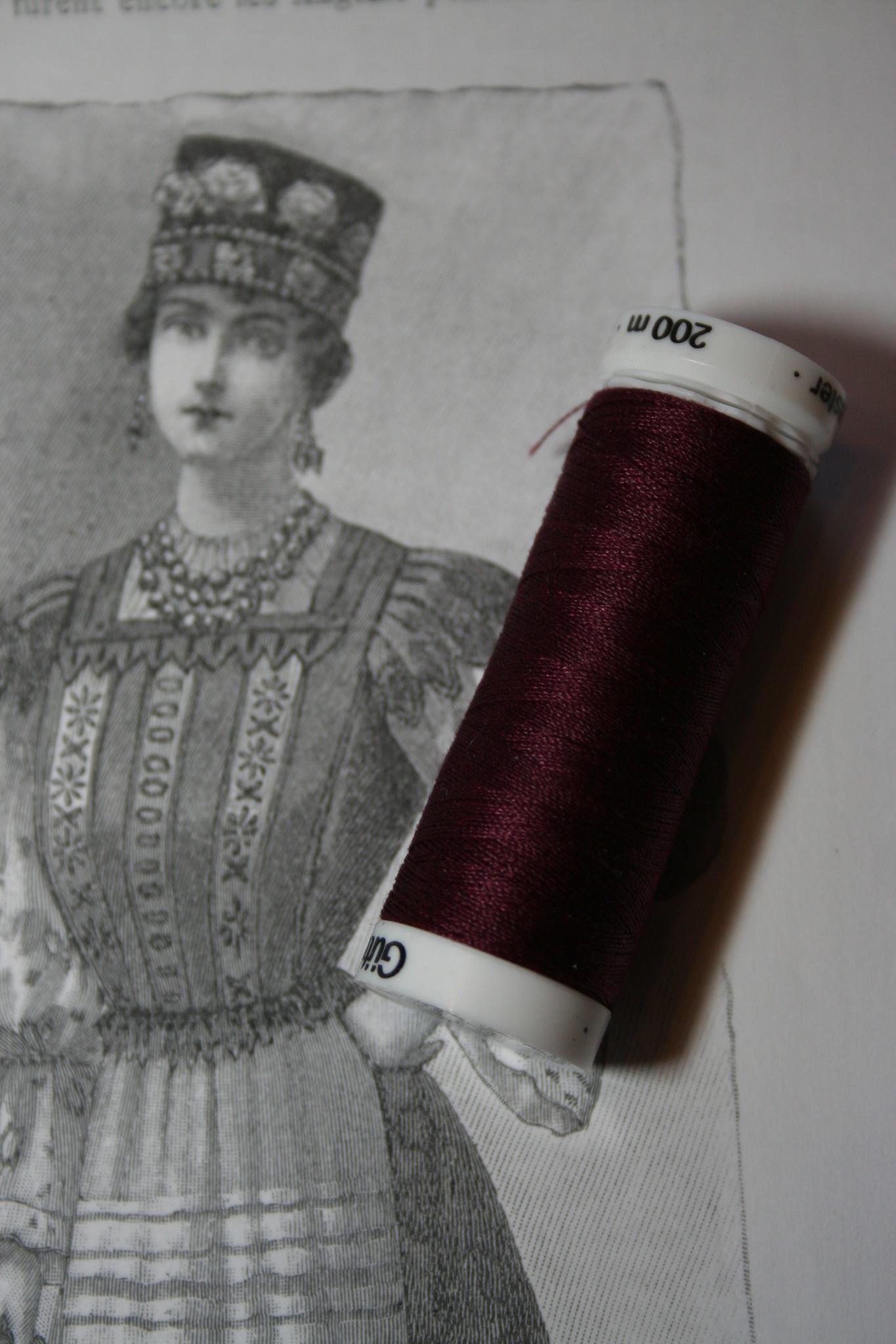Gutermann machine thread 200m diff. colors