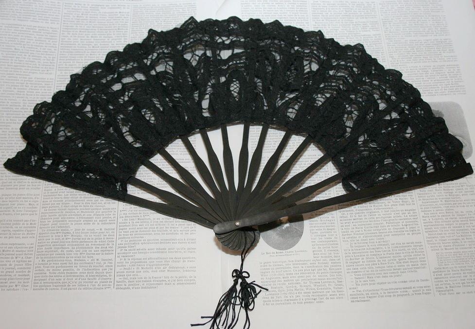 Lace fan.