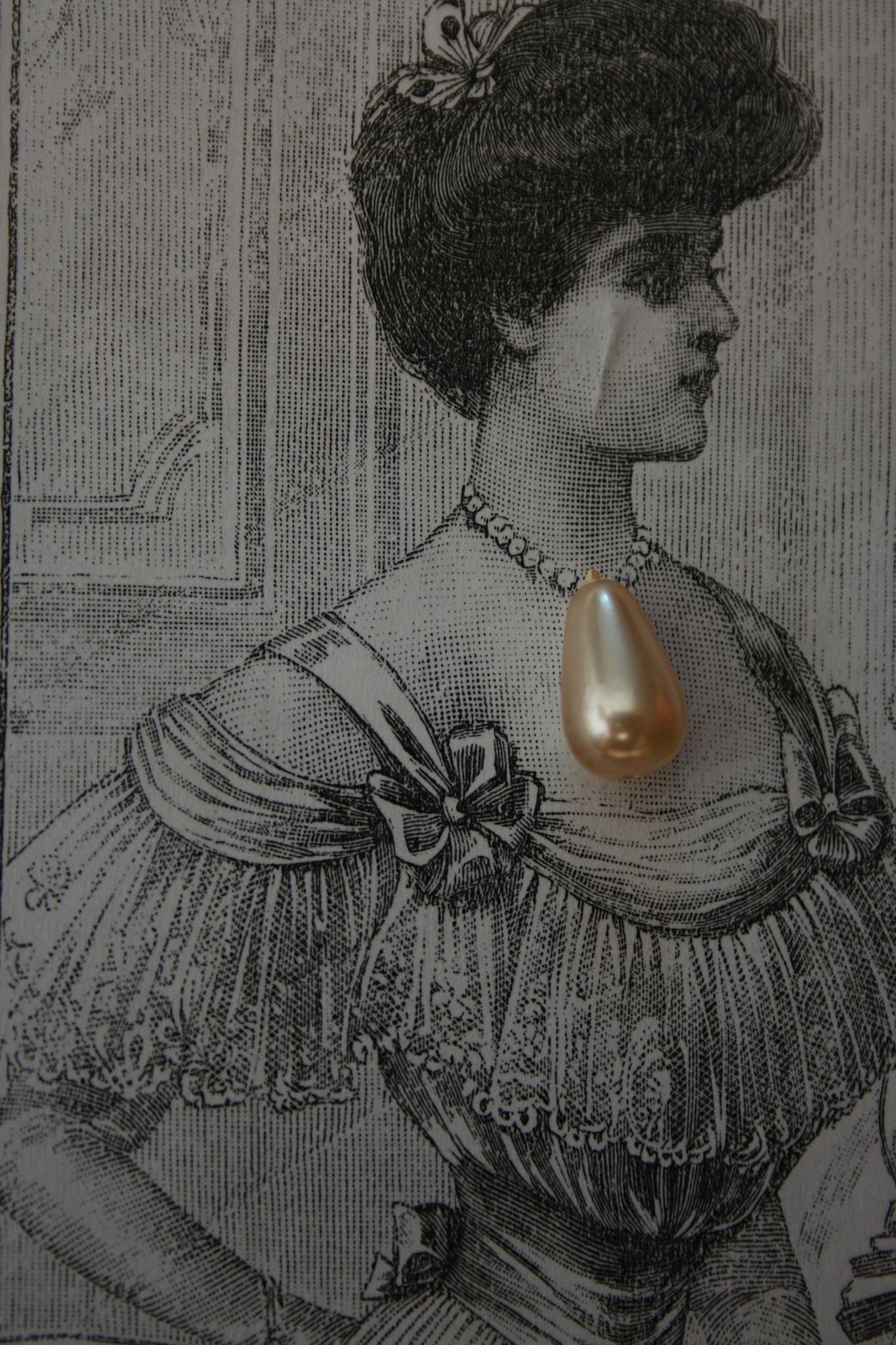 Gutermann teardrop pearls.