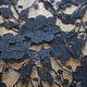 Black floral lace.