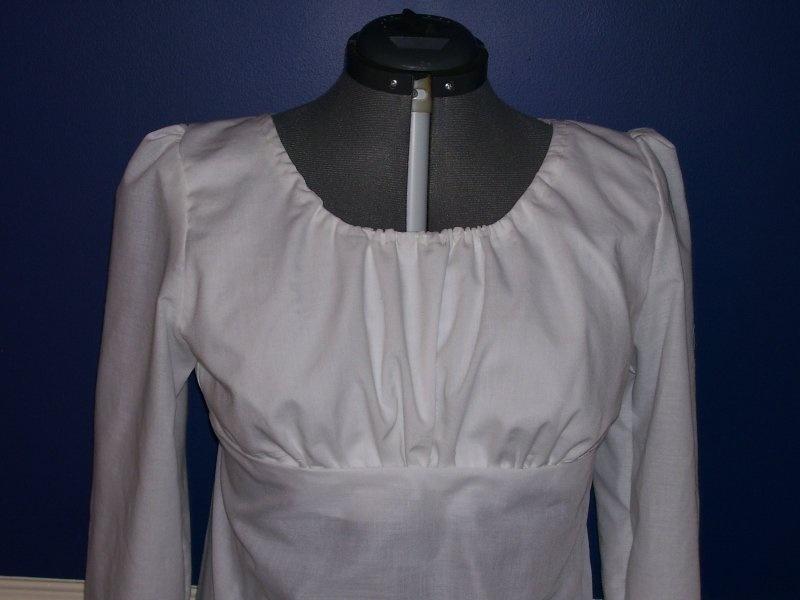 Sense&Sensebility patroon Regency Gown halslijn supplement.