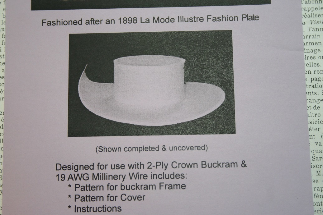 Hat pattern: 1898.