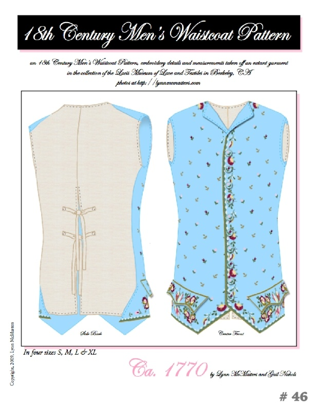 Out of a Portrait Out of a Portrait 18th century Gentlemens Waistcoat Pattern.
