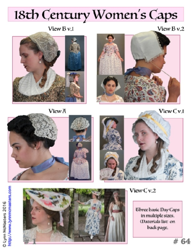 Out of a Portrait Out of a Portrait 18th century Ladies Caps Pattern.