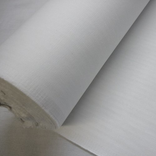 White cotton Coutil.
