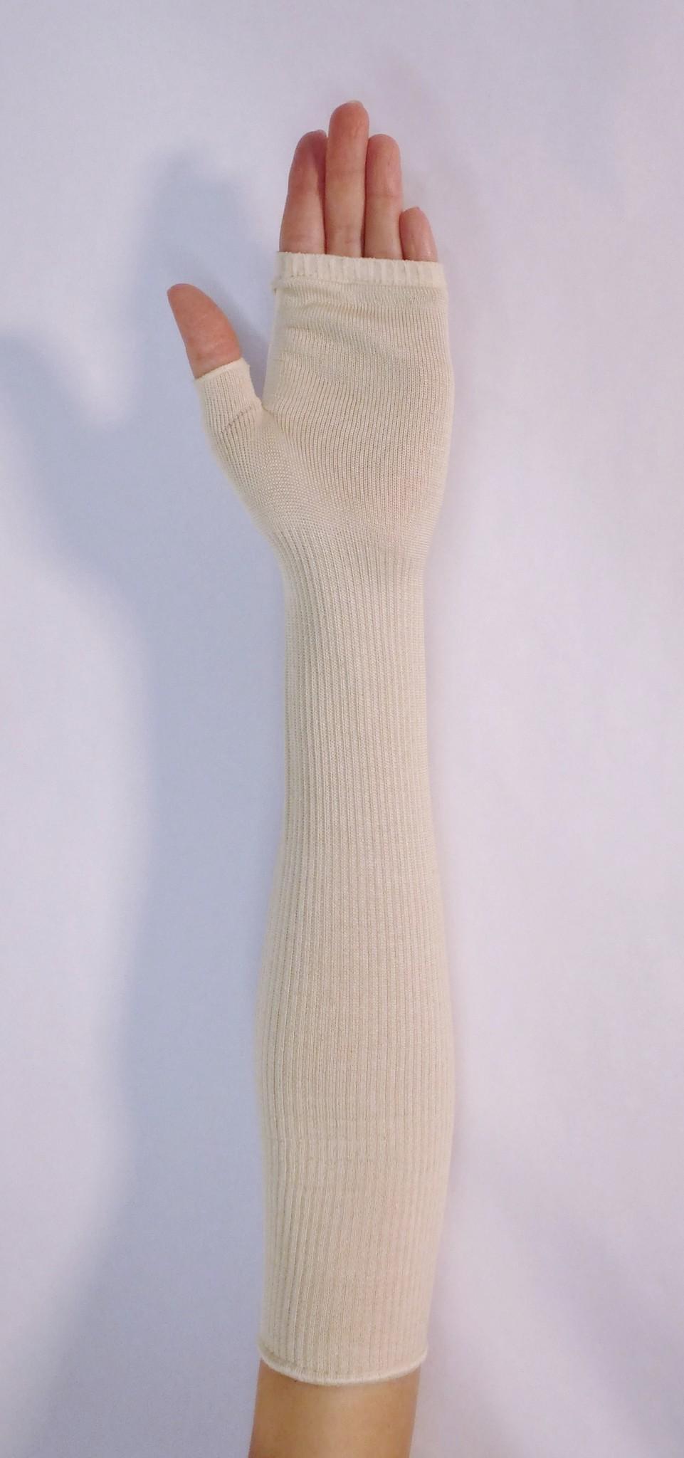Zijde Mittens/Vingerloze handschoenen/Mittaines.