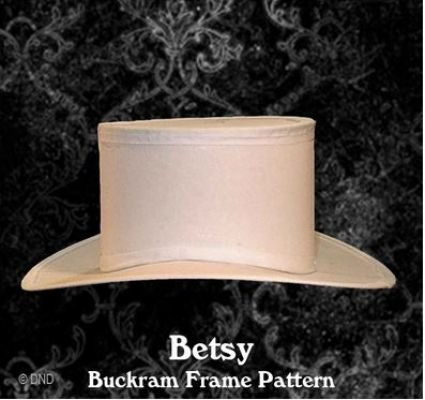 Buckram hoeden stof.
