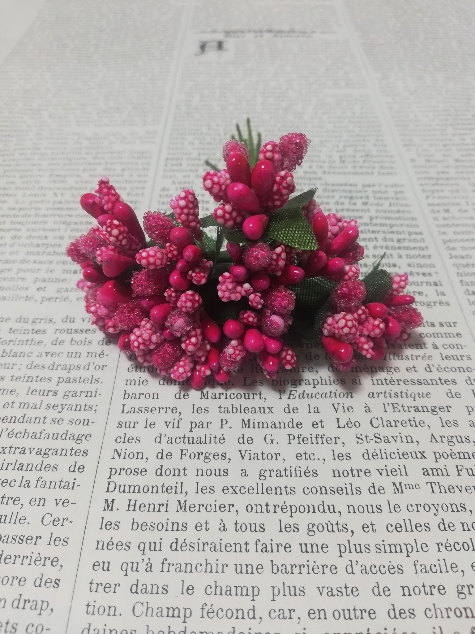 Little posy of berries in different colors.