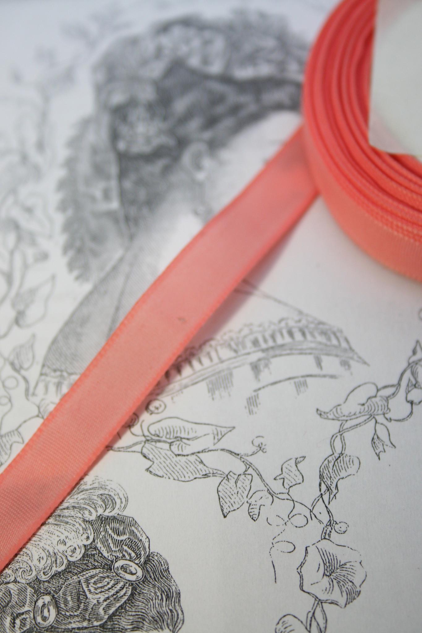 Vintage taffeta ribbon 22mm diff. colors