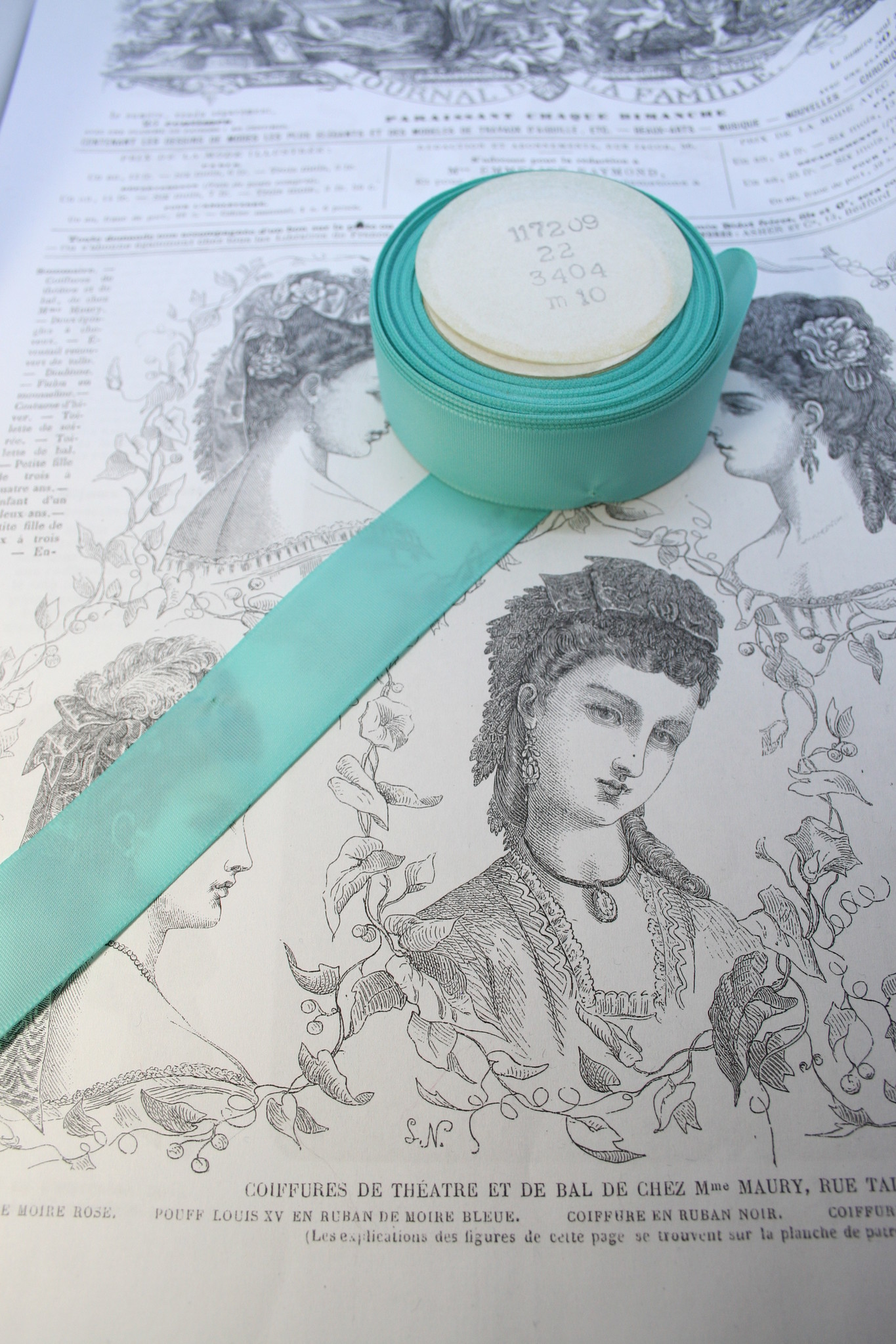 Vintage taffeta ribbon 37mm diff. colors